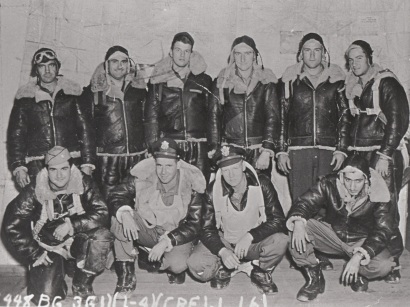 Archive image of crew of a B-24 Liberator bomber