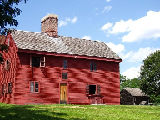 An image of Rebecca Nurse's homestead in Danvers, Massachusetts