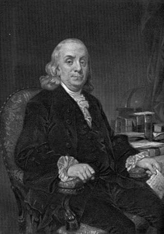 A portrait of Benjamin Franklin