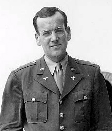 An image of Glenn Miller during his service for the US Army Air Force