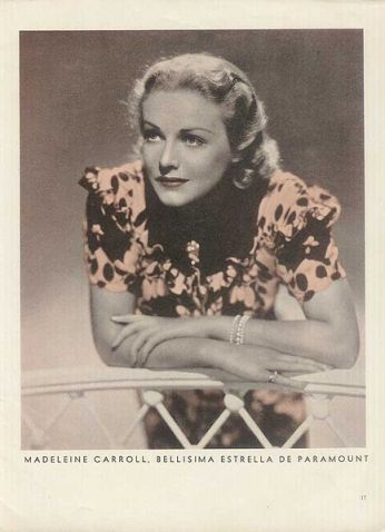An image of Madeleine Carroll, May 1939