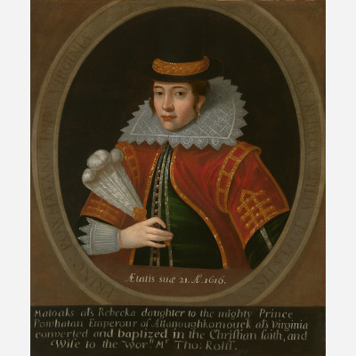 A painting of Pocahontas